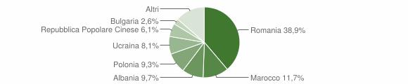 Grafico cittadinanza stranieri - Montalto Uffugo 2010