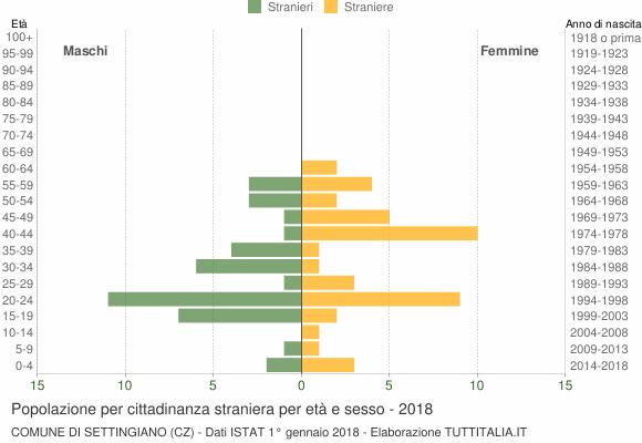 Grafico cittadini stranieri - Settingiano 2018