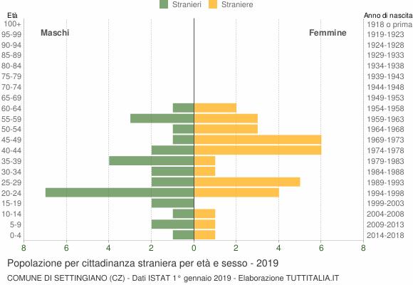 Grafico cittadini stranieri - Settingiano 2019
