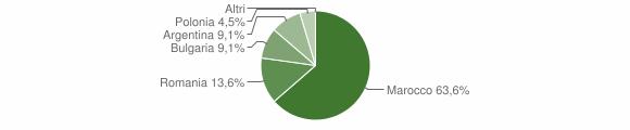 Grafico cittadinanza stranieri - Jacurso 2013