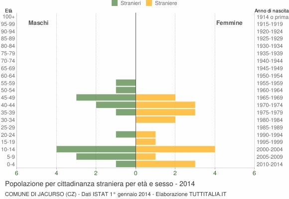 Grafico cittadini stranieri - Jacurso 2014