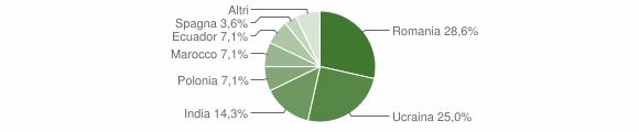 Grafico cittadinanza stranieri - Mammola 2012