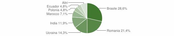 Grafico cittadinanza stranieri - Mammola 2013