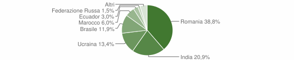 Grafico cittadinanza stranieri - Mammola 2015