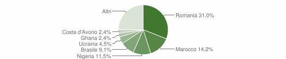 Grafico cittadinanza stranieri - Monasterace 2019