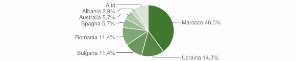 Grafico cittadinanza stranieri - Ionadi 2004