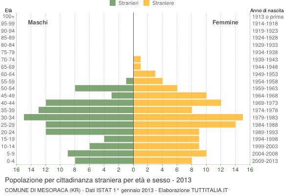 Grafico cittadini stranieri - Mesoraca 2013