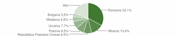Grafico cittadinanza stranieri - Serra San Bruno 2013