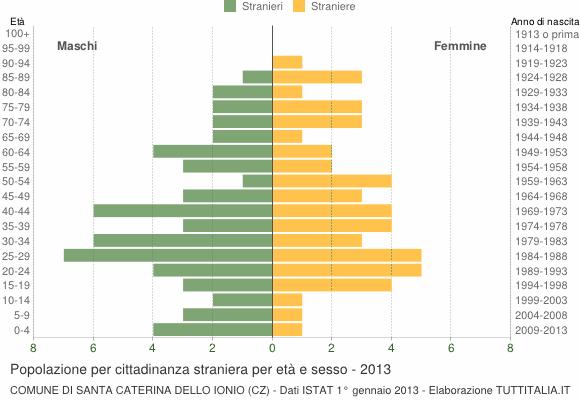 Grafico cittadini stranieri - Santa Caterina dello Ionio 2013
