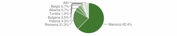 Grafico cittadinanza stranieri - Guardavalle 2009