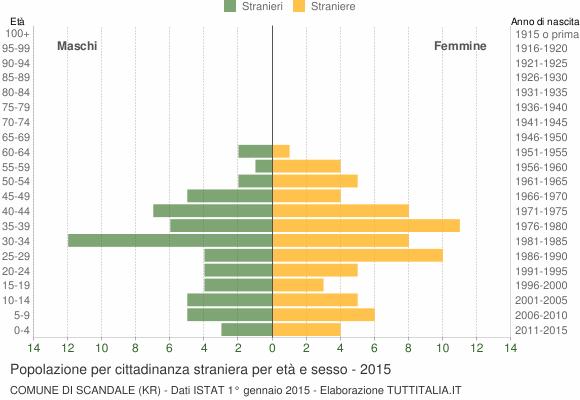 Grafico cittadini stranieri - Scandale 2015