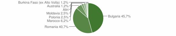 Grafico cittadinanza stranieri - Varapodio 2014