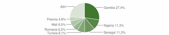 Grafico cittadinanza stranieri - San Pietro Apostolo 2018