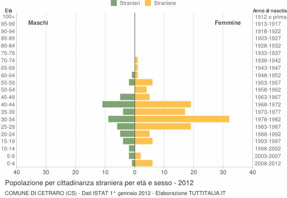 Grafico cittadini stranieri - Cetraro 2012