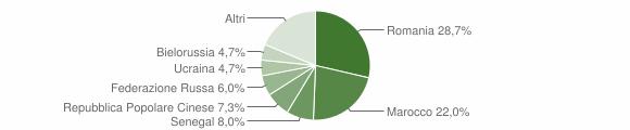 Grafico cittadinanza stranieri - Fuscaldo 2010