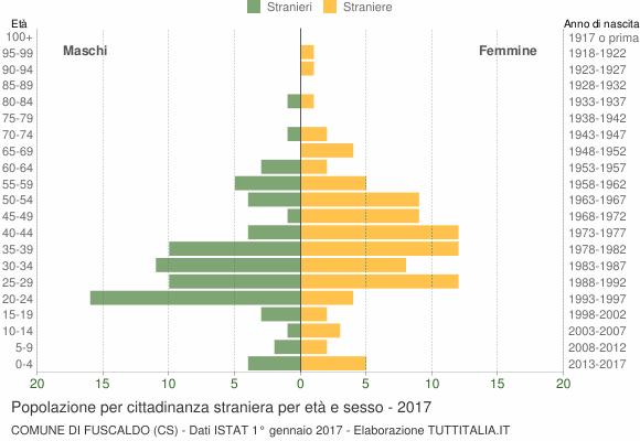Grafico cittadini stranieri - Fuscaldo 2017