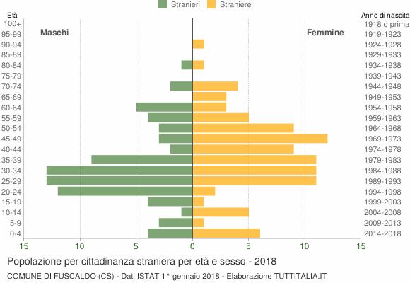 Grafico cittadini stranieri - Fuscaldo 2018