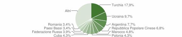 Grafico cittadinanza stranieri - Soverato 2006