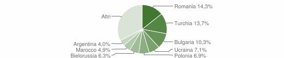 Grafico cittadinanza stranieri - Soverato 2009