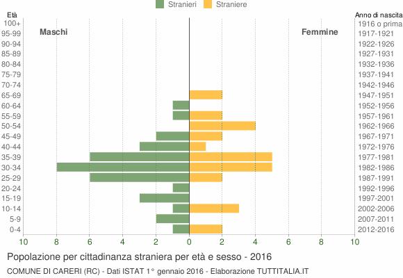Grafico cittadini stranieri - Careri 2016