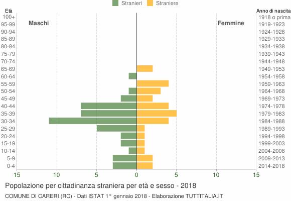Grafico cittadini stranieri - Careri 2018