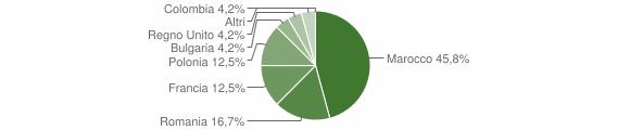 Grafico cittadinanza stranieri - Castelsilano 2010