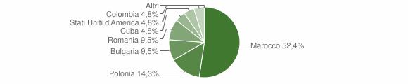 Grafico cittadinanza stranieri - Castelsilano 2013