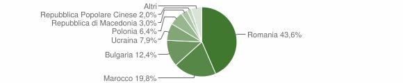 Grafico cittadinanza stranieri - Rocca di Neto 2010