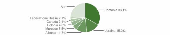 Grafico cittadinanza stranieri - Castrolibero 2019