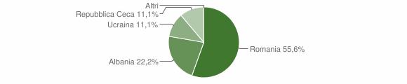 Grafico cittadinanza stranieri - Castroregio 2009