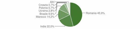 Grafico cittadinanza stranieri - Bova Marina 2018