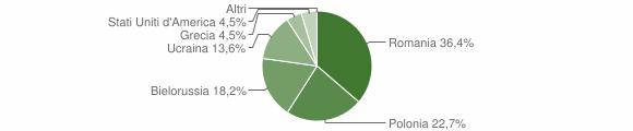 Grafico cittadinanza stranieri - Magisano 2013