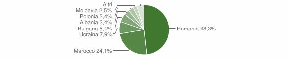 Grafico cittadinanza stranieri - Maida 2009
