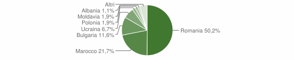 Grafico cittadinanza stranieri - Maida 2011