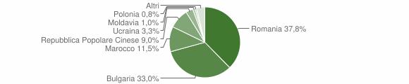 Grafico cittadinanza stranieri - Maida 2016