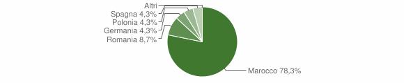 Grafico cittadinanza stranieri - Pizzoni 2010