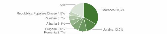 Grafico cittadinanza stranieri - Trebisacce 2008