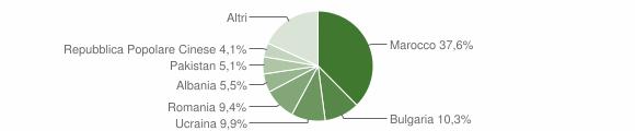 Grafico cittadinanza stranieri - Trebisacce 2009