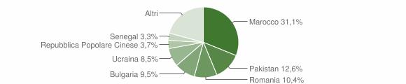 Grafico cittadinanza stranieri - Trebisacce 2018