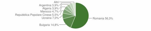 Grafico cittadinanza stranieri - San Calogero 2008