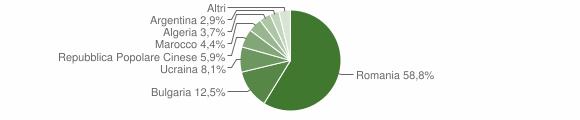 Grafico cittadinanza stranieri - San Calogero 2009
