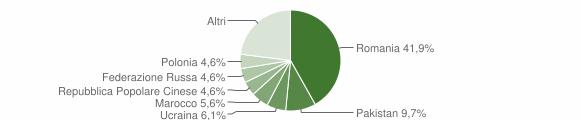 Grafico cittadinanza stranieri - Scalea 2019