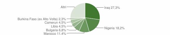 Grafico cittadinanza stranieri - Scigliano 2019