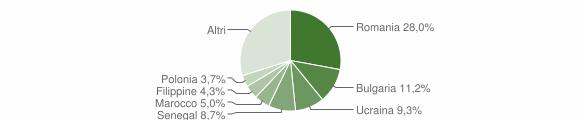 Grafico cittadinanza stranieri - Squillace 2015