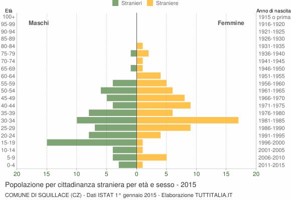 Grafico cittadini stranieri - Squillace 2015