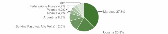 Grafico cittadinanza stranieri - Candidoni 2004