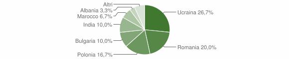 Grafico cittadinanza stranieri - Candidoni 2010