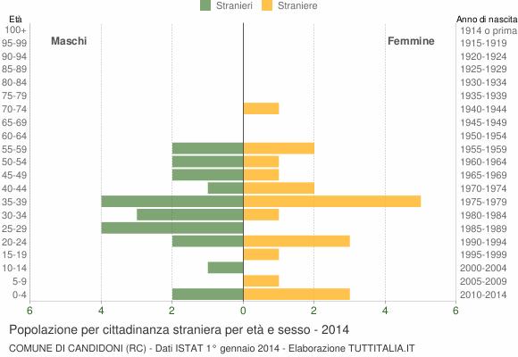 Grafico cittadini stranieri - Candidoni 2014