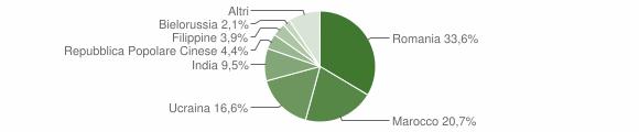 Grafico cittadinanza stranieri - Locri 2010