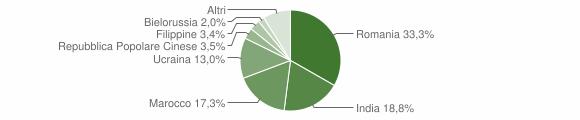 Grafico cittadinanza stranieri - Locri 2011